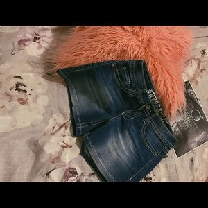 Embellished Jean Shorts   Hydraulic